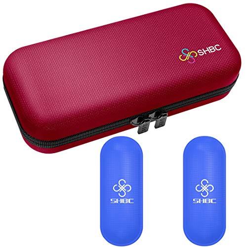 Estuche de viaje para diabético insulina enfriador refrigeración organizar medicamento aislado bolsa con 2 bolsas de hielo rosa
