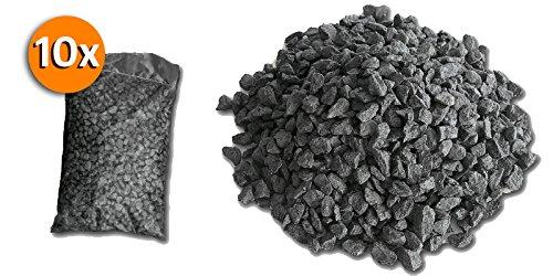 Metroquadrocasa 10 Sacchi da 25kg graniglia di marmo Nero Ebano 8/12mm decorazione giardino