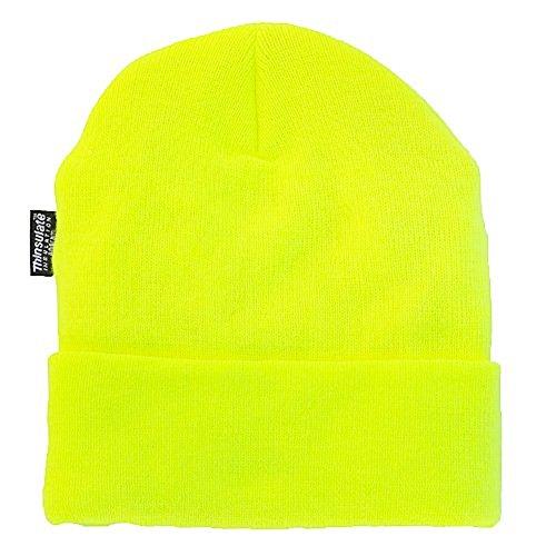 Wasserabweisende Wintermütze bis -30°C Kälte getestet // verschiedene Farben wählbar One Size,Neongelb