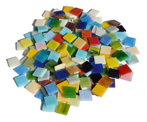 LDGJ 300g/Pack Mixed Color Tumbled Stained Glass Mosaic Tiles Home Decoration
