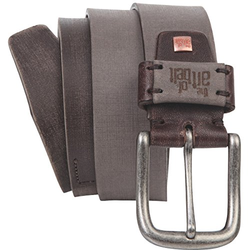 Lindenmann The Art of Belt Womens leather belt/Mens belt, Premium full grain leather belt Unisex, sand, Größe/Size:100, Farbe/Color:beige