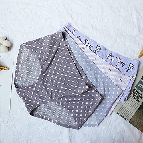 lmqsdhh Women's Underwear Cotton Panties for Women, 4 Pack Printing,M Boyshorts, Briefs, Or Hipster Fit Available