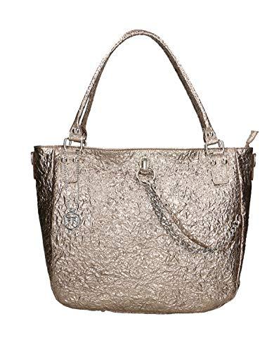 Roberta Rossi Bag Handgefertigte Donna Made in Italy echtes Leder bedrucktes Laminat Griff Lederdopplungen Made in Italy RR01606FBNOL_P