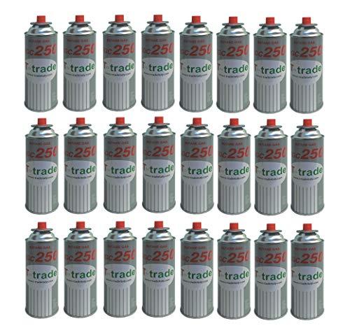 ALTIGASI Lot de 24 Cartouches de gaz GPL 250 g KCG250 Fer à souder idéal pour cheminée ou cuisinière Bistro Compatible Campingaz CP250 Brunner