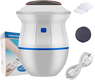 Portable Electric Vacuum Adsorption Foot Grinder - USB Electronic Foot File Pedicure Tools, Dual-Speed C�llus Remover - Feet Care Perfect for Dead,Hard Cracked Dry Skin (White)