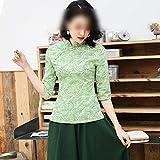 Immagine 1 qipao verde delle donne camicia