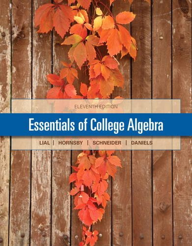 Essentials Of College Algebra With Mymathlab Pearson Etext Access Card