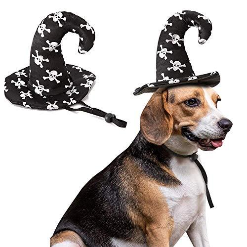 Aniac - Gorro de bruja para disfraz de perro de Halloween, accesorio para disfraz de gatito, gato, cachorro y perros