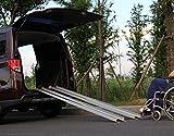 TECH-CRAFT Universal Alu-Ladeschiene 152cm 2er-Set Auffahrrampe Rollstuhlrampe