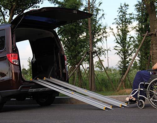 Tech Craft Universal Alu-Ladeschiene 152cm 2er-Set Auffahrrampe Rollstuhlrampe