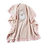 Lil Llama Extra Soft Pink Blanket - Sheep Pink Baby Blankets - Double Sided Baby Lamb Blanket - Baby Security Blanket Sheep - Soft Baby Blanket Sheep - Sheep Pink Blankets for Girls