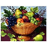 DIY 5D Diamond Painting Kits for Adults Full Round Drill Diamond Painting for Home Wall Decor Gift Fruit in The Basket 15.7x11.8in 1 Pack by May Bob