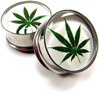 nugroho_mys Pair of Pot Leaf Plugs gauges