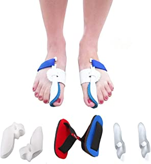 Bunion Corrector Adjustable Splint Night Time Soft Gel for Bunion Relief, Bunion Corrector and Bunion Relief Protector Brace Kit for Big Toes, Bunion Pads, Toe Straightener, Toe Separators
