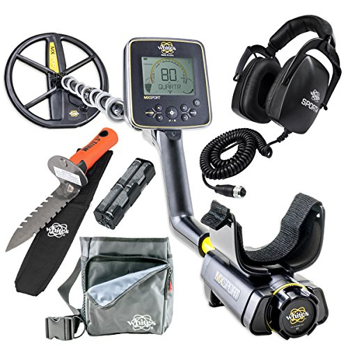 Whites MX Sport Waterproof Detector Diggers Special w/DigMaster & Utility Pouch
