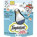 TEMPTATIONS Snacky Penguin Cat Toy and Sample Treat Pack, Tasty Chicken Flavor, .42 oz. Pouch