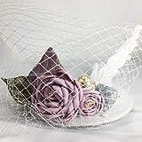 韓式の花嫁の結婚式の帽子、ウェディングベールの影楼は優雅な花の小さい帽子を撮影して、羽の網の紗の小さい礼帽は飾りを出します。