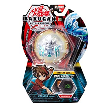 Bakugan Ultra Haos Krakelios 3-inch Tall Collectible Transforming Creature for Ages 6 and Up