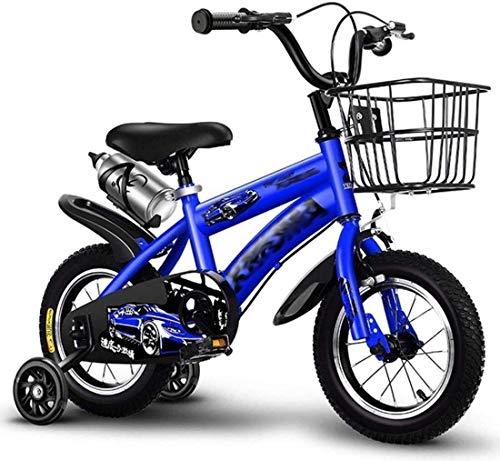 N&I Bicicleta infantil para niños con freno de mano y baloncesto para niños de 3 a 9 años
