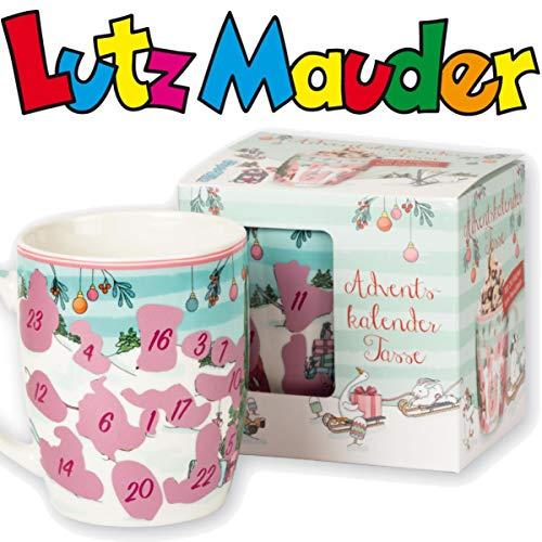Adventskalender * WINTERSPASS * als Tasse mit 24 Flächen zum Freirubbeln von Lutz Mauder   Version 2020   Geschenk Advent Weihnachten Kalender Überraschung Winter Winterspaß