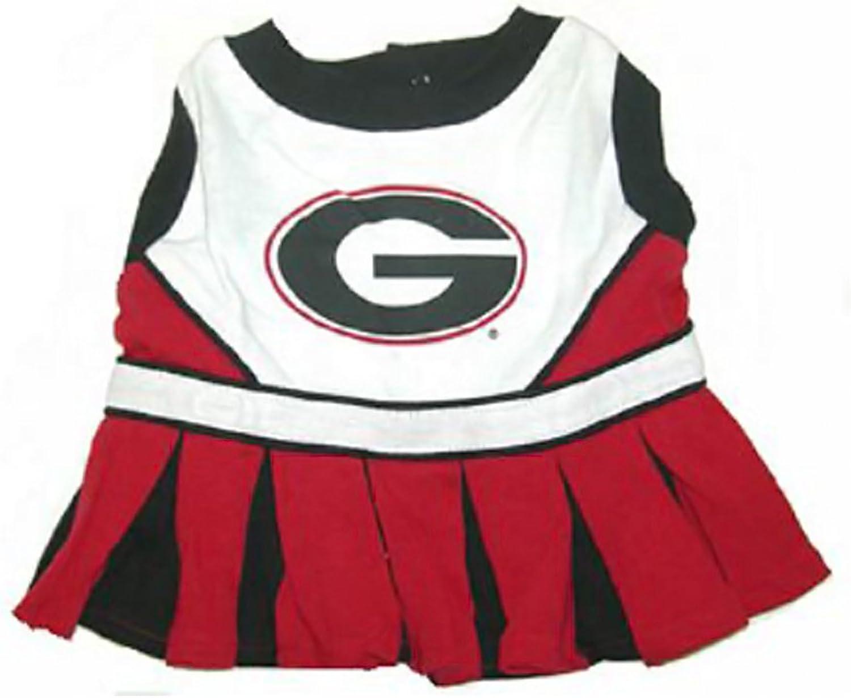 Georgia Bulldogs Cheerleader Dog DressMedium