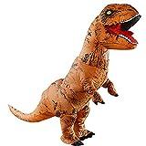 Adult Official Jurassic World Inflatable Tyrannosaurus Rex Dinosaur Costume Suit Cartoon Doll of Christmas (T-rex)
