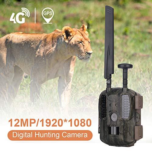 MUXIN 4G Wildkamera mit Bewegungsmelder Jagdkamera IP65 12M 1080P Nachtsichtkamera 120°Weitwinkel,LCD Loop-Aufnahme Garten- Hausüberwachung für Monitor Wildkamera mit Videofunktion