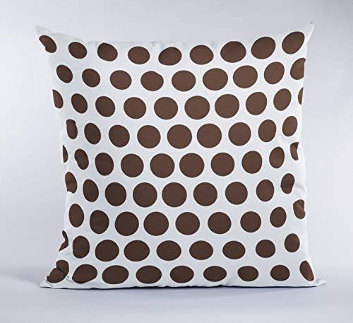 Toll2452 Funda de almohada cuadrada de 45,7 x 45,7 cm, color chocolate, funda de almohada para sala de estar, fundas de almohada de color marrón