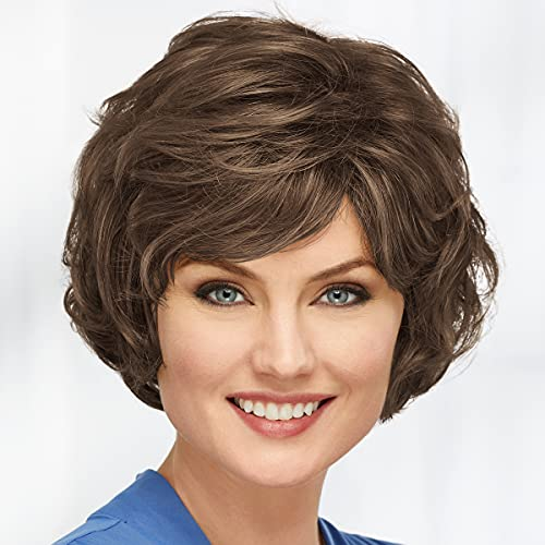 Beth Wig by Paula Young - Beautiful Bob Wig with Soft Fringe and Touchable Waves / Multi-Tonal Shades of Blonde, Silver, Brown and Red