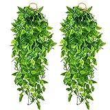2 Piezas Plantas Colgantes Artificiales de Hiedra Falsa, Plantas Artificiales...