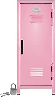 Mini Locker with Lock and Key Light Pink -10.75