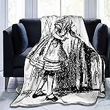 Manta de franela de forro polar ligera y acogedora para sofá, dormitorio, adultos, niños, iluminación nocturna de Alicante de la ciudad de Benidorm, con carcasa moderna y costa