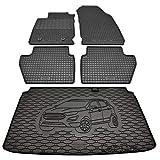 Car Lux DUO059760- Alfombras Alfombrillas de goma a medida + alfombra maletero conjunto para FORD Ecosport desde 2018-