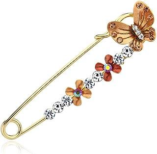 Pulabo - Broche con forma de flor de mariposa para mujer, diseño de mariposa, con forma de flor, con forma de chal de sola...