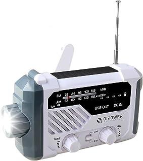多機能防災ラジオ ラジオライトソーラー充電/USB充電/手回し発電 4つ給電式 AM/FM LED懐中電灯 非常用照明器具 SOS緊急警報 大容量2000mAh スマホ充電 緊急対策 地震 津波 台風 停電 防災対応
