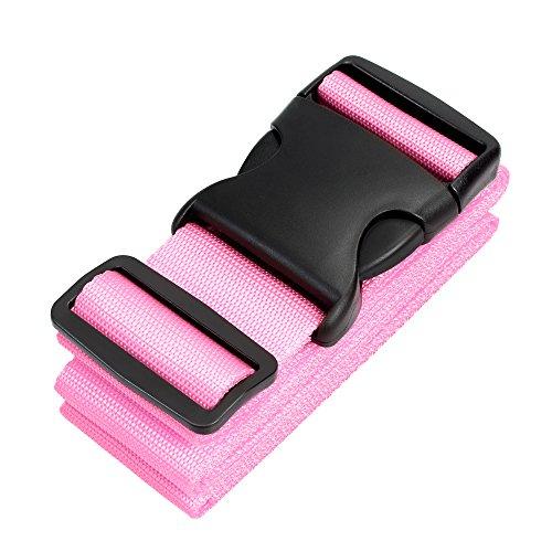 Pushingbest Koffergurt, Gepäckgurt Kofferband verstellbar der Koffer Reise Zubehör-Pink