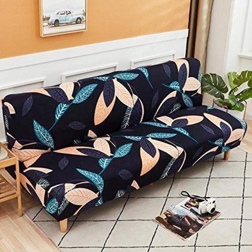 GFFGA Schlafsofa Abdeckung Universal Armless Folding Moderne Sitzbezüge Stretchbezüge billig Couch Protector Elastic Futon Spandex Bezug, 10.160-190cm