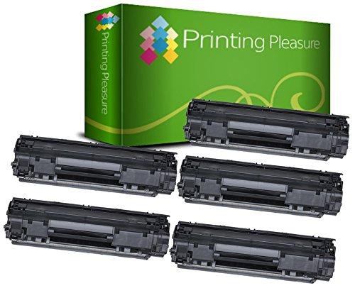Printing Pleasure 2 Compatibles CF279A 79A Cartuchos de tóner para HP Laserjet Pro M12a, M12w, MFP M26A, MFP M26nw - Negro, Alta Capacidad