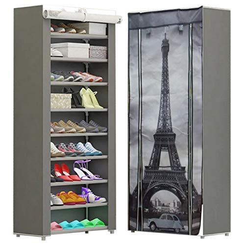 CHIC FANTASY Zapatera Multifuncional de 9 Niveles para almacenar 27 pares de zapatos o ropa, cómoda, fácil de armar, resistente, Chic Fantasy, TORRE EIFFEL, PARIS