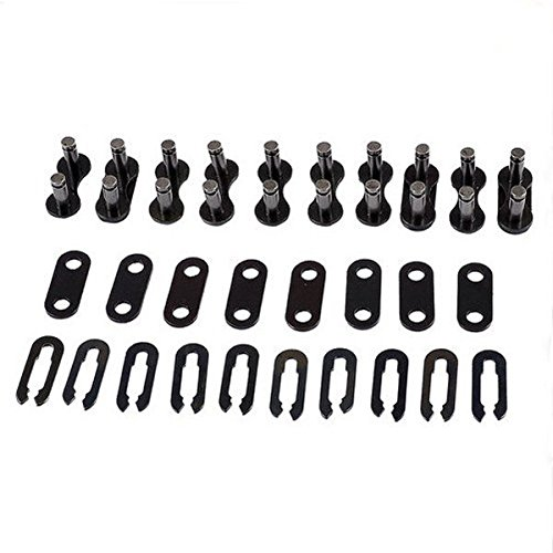 PhilMat 10 pezzi catena della bicicletta della bici di collegamento maestro clip congiunte non o-ring