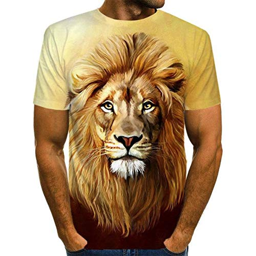 The Lion Move Printed 3D T-Shirt Punk Style 3D Short Sleeve T-Shirt S-6XL Funny Men's T-Shirts Cool