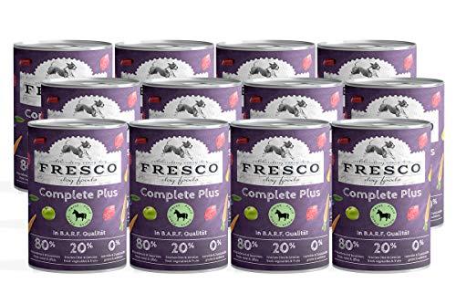 Fresco Dog Nassbarf Complete Plus Pferd 12x400g