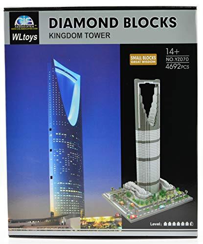 ICS YZ070 The Kingdom Tower in Riyadh Saudi Arabia Set with 4692 Bricks, CIS-YZ070