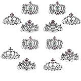Mini Princess Tiara Crown with Hair Comb,...