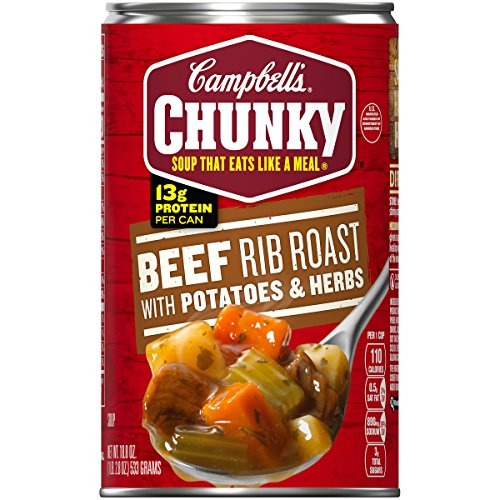 Campbell's Chunky Soup, Beef Rib Roast with Potatoes & Herbs, 18.8 Ounce (Pack of 12)