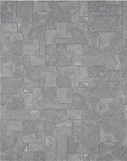 Melody Jane Dollhouse Miniature Worn Flagstone Slate Effect Paper Flooring 1:24 Scale