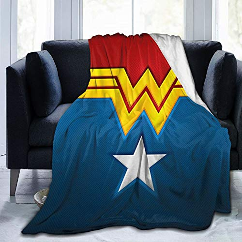Won-Der Wo-Man Fleece Blanket Throw Luxury Cozy Lightweight Ultra-Soft for Couch, Bedding, Sofa and Travel