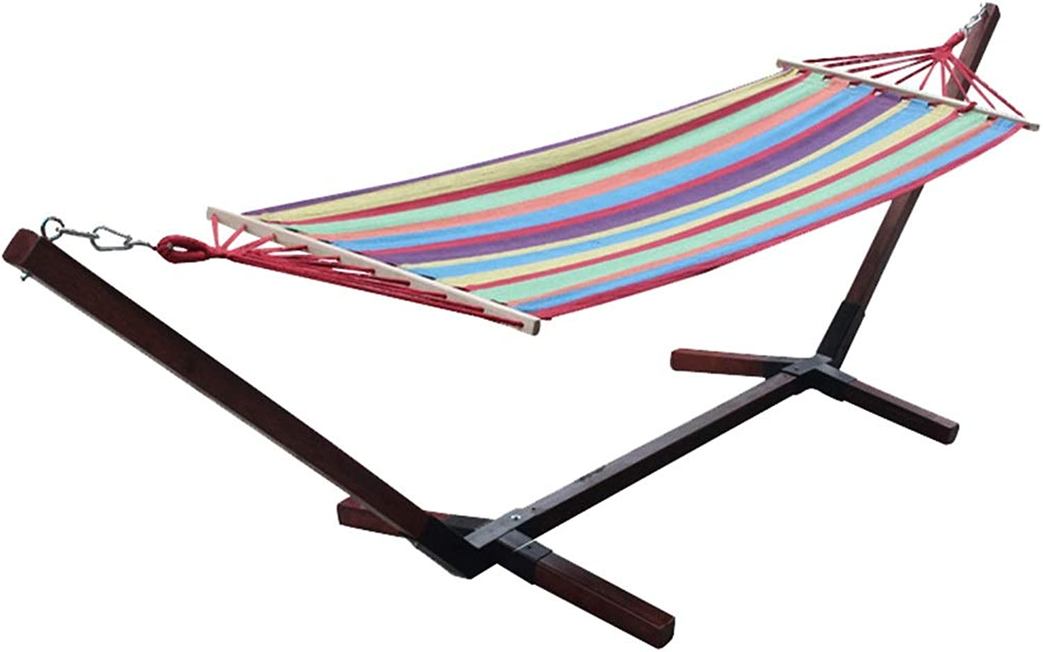 Outdoor Patio Leisure Hammock with Stand Camping Leisure Hammock Travel Portable Hammock 200×100cm (color   B)