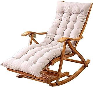 Tumbona aire libre silla de bambú plegable de jardín Sillón mecedora tomar el sol Relax silla con reposapiés y una silla de masaje piernas estirable Entretenimiento Siesta, con Mat (Color, Gris),gris