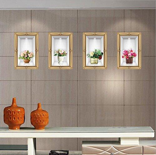 Hallobo® XXL Muurtattoo Muursticker 3D Deco Muurschildering Mural Mural Poster Bloempot Muursticker voor de woonkamer slaapkamer keuken Wall Sticker Afbeelding Muursticker Decoratie